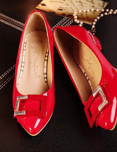 al Toe mujer carrera rosa aire rojo eu38 blanco 5 Pisos piel negro red cn38 sintética oficina libre de de punta tacón us7 bajo 5 uk5 y zapatos casual PDX H7aPnRzw
