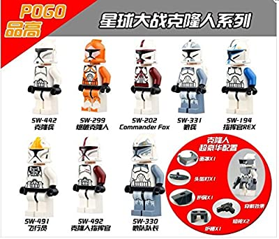 New Coming 8pcs/lot PG8002 Building Blocks The Force Awakens Clone Trooper Minifigures Commander Fox Rex Bricks