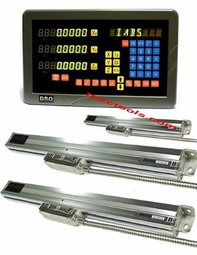 """3 Axis DRO Digital Readout Lathe Pacakage Linear Glass Scale 0.0002"""" Fit on Bridgeport and bench top mill"""