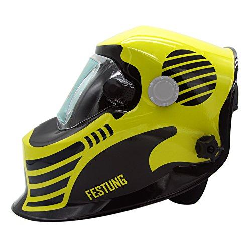Doitpower Solar-powered Auto-darkening Welding Helmet with 4 Arc Sensors Two Shade Ranges #5-8/9-13 Suede Safety Work Welding Glove Included by Doitpower (Image #3)