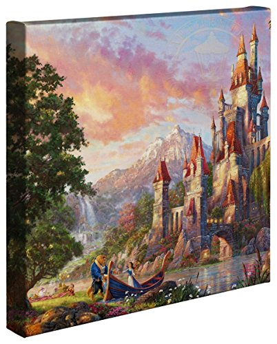 (Thomas Kinkade Studios Beauty and The Beast II 14 x 14 Gallery Wrapped Canvas)