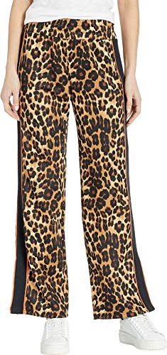 Juicy Couture Women's Leopard Tricot Wide Leg Pants Multi Regent Leopard Petite/X-Small 30 - Juicy Couture Leopard