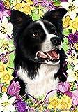 Border Collie – Tamara Burnett Easter Flowers Large Flags
