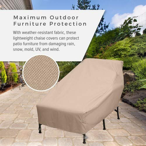 KoverRoos Weathermax 49628 Wide Chaise Cover, 82 by 42 by 36-Inch, Toast