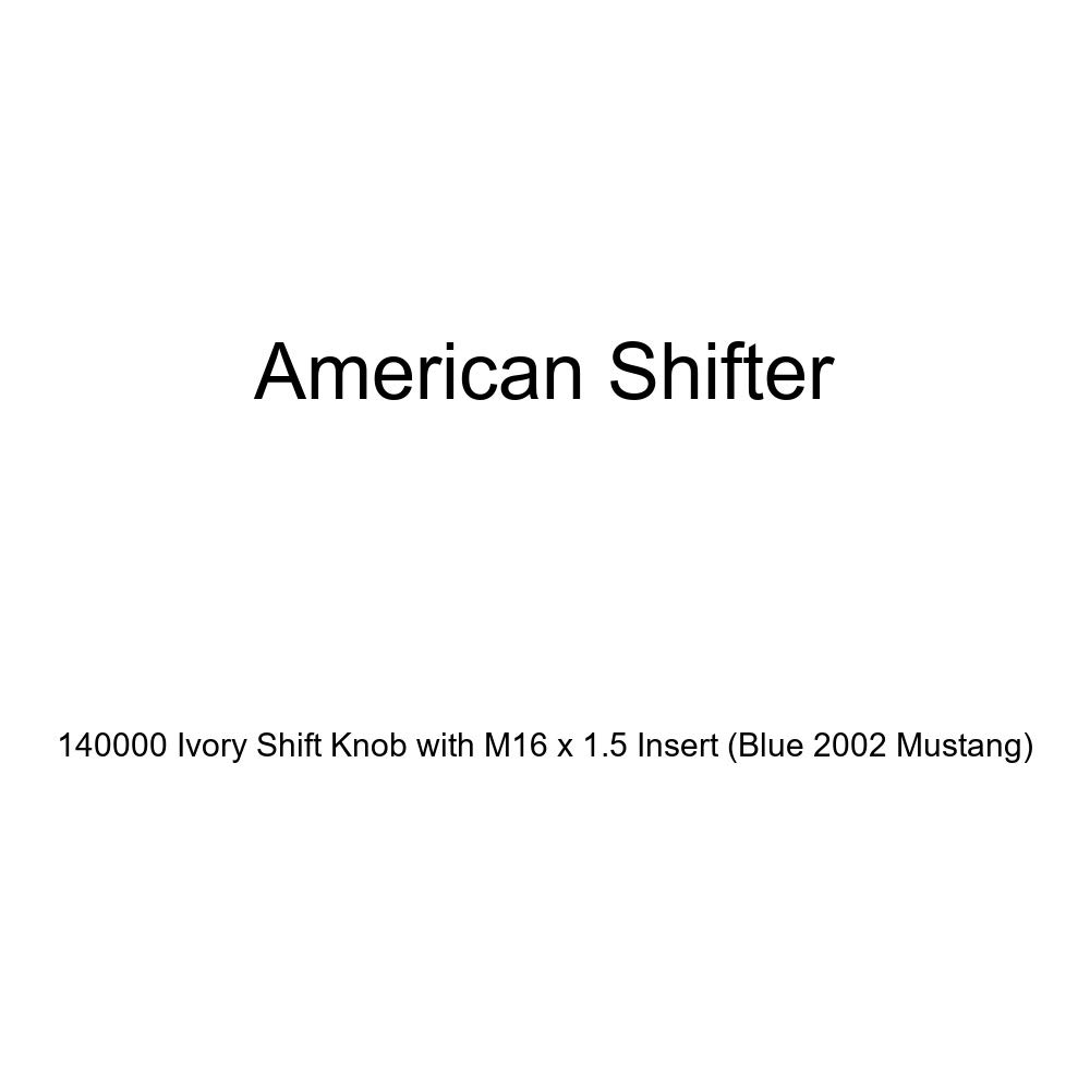 American Shifter 140000 Ivory Shift Knob with M16 x 1.5 Insert Blue 2002 Mustang