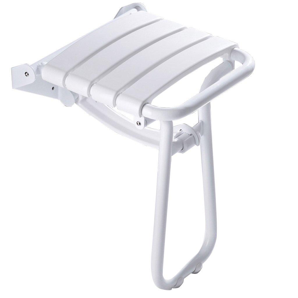 【海外 正規品】 バスルームの折りたたみ式の壁の席エントランス廊下のトイレシャワーのバススツールの壁のスツールシャワーの壁の椅子ホワイト (サイズ (サイズ さいず B07DFFCN2K : B B) B B07DFFCN2K, 越路商会:763fa210 --- garagegrands.com