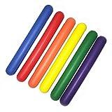 TrackSonic Super Foam Track Batons | Soft Relay Running Batons - 6 Pack