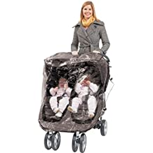 Comfy Baby Rain Cover Custom Designed to Fit the City Mini Double Stroller.