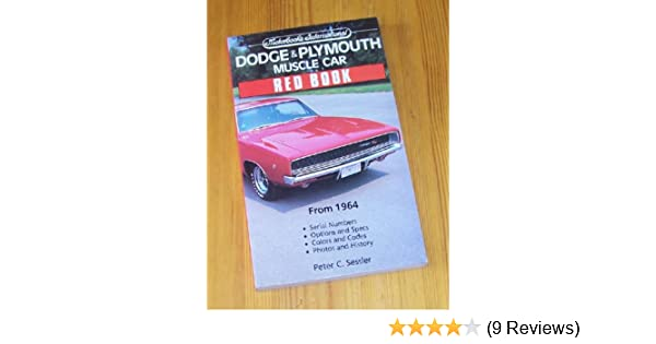 Dodge plymouth muscle car red book motorbooks international red dodge plymouth muscle car red book motorbooks international red book series peter c sessler 9780879384975 amazon books fandeluxe Images