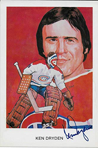 Hall Of Fame Sports Memorabilia - Ken Dryden Signed 1983 Hockey Hall Of Fame Cartophilium Postcard - NHL Cut Signatures