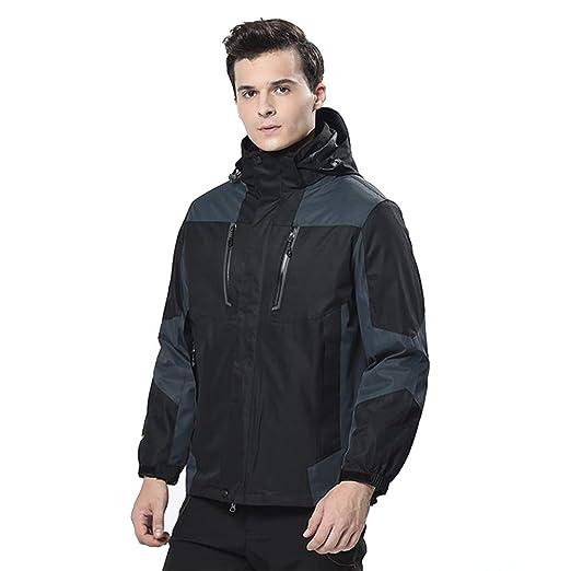 Men s Mountain Snow Waterproof Ski Jacket Windproof Fleece Parka Rain  3-in-1 Jackt 166e71a40