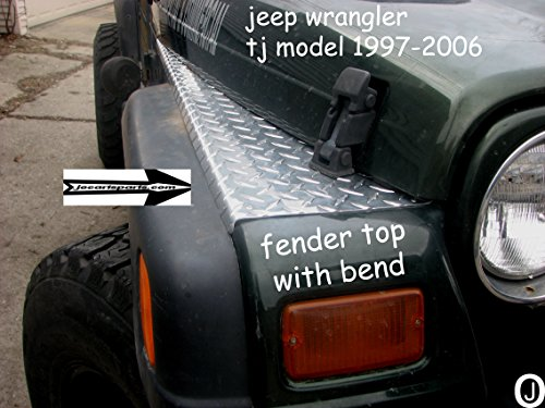 Jeep Tj Parts >> JEEP WRANGLER TJ DIAMOND PLATE FULL TOP FENDER COVERS WITH BEND - Buy Online in UAE ...