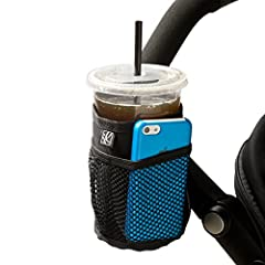 Keep drinks, cell phone and keys within easy reach while strolling with the J.L. Childress Cup N Stuff Stroller Pocket. The Cup N Stuff features an insulated pocket to hold bottles, cups or cans. Two exterior mesh pockets provide storage spac...