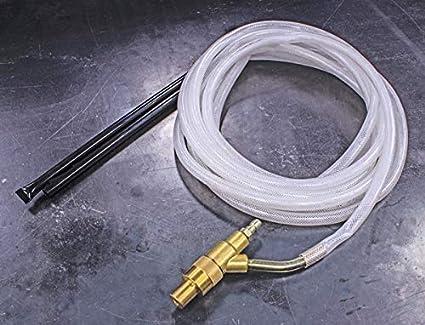 Eastwood Dustless Liquid Media Blaster Brass Blast Gun Assembly 4 Mm Nozzle Installed Double Pick Boron Carbide Nozzle Up Tube Reinforced Clear Vinyl