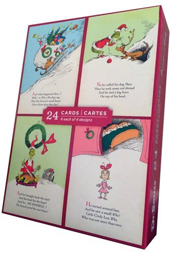 Grinch Assortment - Image Arts Box of 24 Christmas Cards ...