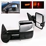 2003 chevy suburban tow mirrors - ModifyStreet Power Side Towing Mirrors with Smoke Lens Turn Signal & Heated Defrost & Clearance Light for 03-06 Chevy Silverado Avalanche Tahoe Yukon/XL/Denali Suburban or GMC Sierra -Chrome finished