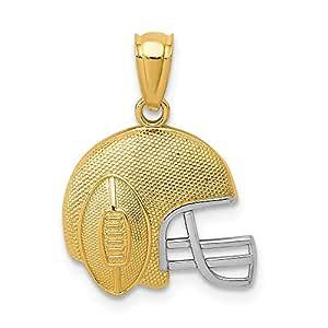 Colgante de oro blanco de 14 quilates y oro amarillo satinado ...