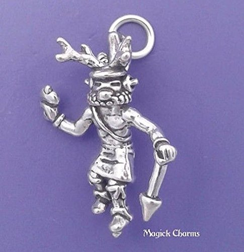 925 Sterling Silver 3D Deer Dancer Charm Native American Indian Kachina Jewelry Making Supply, Pendant, Charms, Bracelet, DIY Crafting by Wholesale Charms