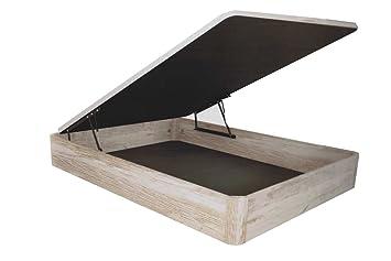STAR - Canapé abatible madera Gran Espai 90/190 Vintage-Blanco decapé: Amazon.es: Hogar