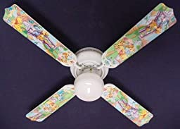 Ceiling Fan Designers 42FAN-DIS-WPPET Winnie Pooh Piglet Eeyore Tigger Ceiling Fan 42 in.