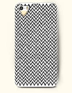 OOFIT Aztec Indian Chevron Zigzag Pattern Hard Case for Apple iPhone 4 4S Black Waves