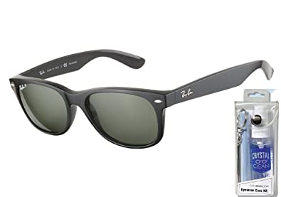 a626d9aa5f Image Unavailable. Image not available for. Color  Ray Ban RB2132 901 58  55mm Black Polarized Wayfarer ...