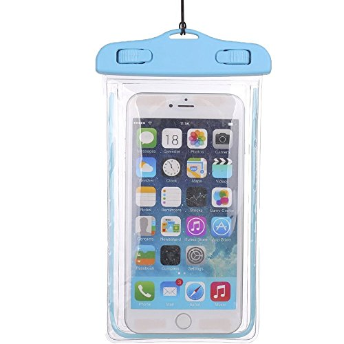 1Pack Blue Universal Waterproof Case, CaseHQ CellPhone Dry Bag Pouch for Apple iPhone 6S 6,6S Plus,7 SE 5S, Samsung Galaxy S7, S6 Note 5 4, HTC LG Sony Nokia Motorola up to 5.7 diagonal (Sony Z3 Replacements Edges compare prices)