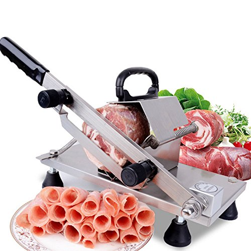 Meat Slicer, TOPQSC Mutton Slicer Manual Household Commercial Automatic Meat Delivery Meat Cow Roll Meat Machine