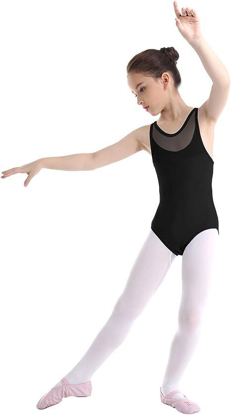 Boyoo Girls Sleeveless Ballet Dance Leotard Gymnastics Cross Straps Back Camisole Tank Leotards Tutu Skirt