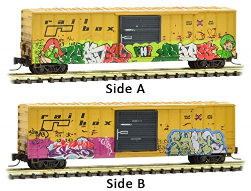Micro-Trains MTL Z-Scale 50ft Box Car Railbox St Patrick's Day Graffiti #43148