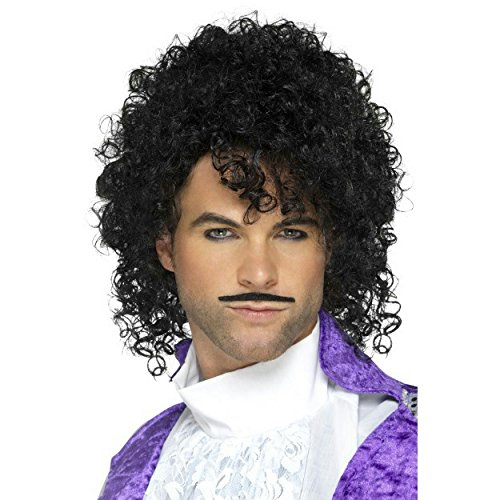 80s Purple Musician Wig and Tash