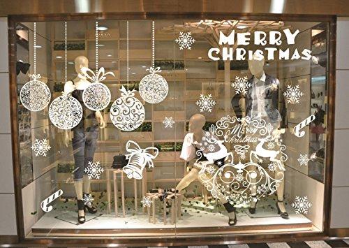 InvictusパブCanリムーバブルクリスマスツリーエルクウィンドウ装飾ウィンドウフィルムアートデカールウィンドウClings B01N51QSKA ホワイト ホワイト