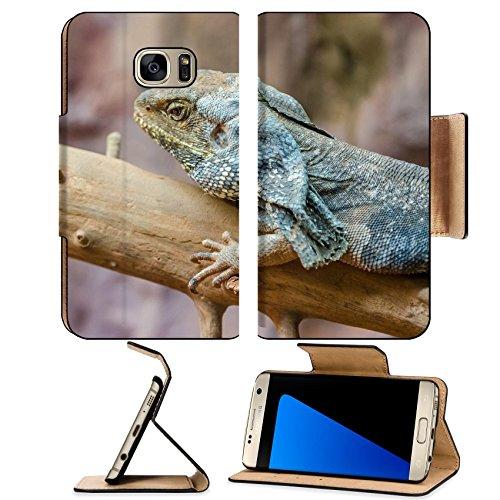 MSD Premium Samsung Galaxy S7 Edge Flip Pu Leather Wallet Case IMAGE 20988032 Frilled Lizard