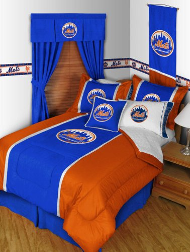 Sports Coverage MLB New York Mets MVP Comforter (Mvp Microsuede Comforter)