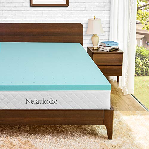 Nelaukoko Memory Foam Mattress Topper Twin XL Size 3 Inch Single Bed Mattress Topper Gel Infusion Breathable Certipur Certified Soft Comfortable Dorm Twin Extra Long