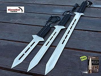 Amazon.com: SURVIVAL STEEL - Juego de 3 cuchillos de ...