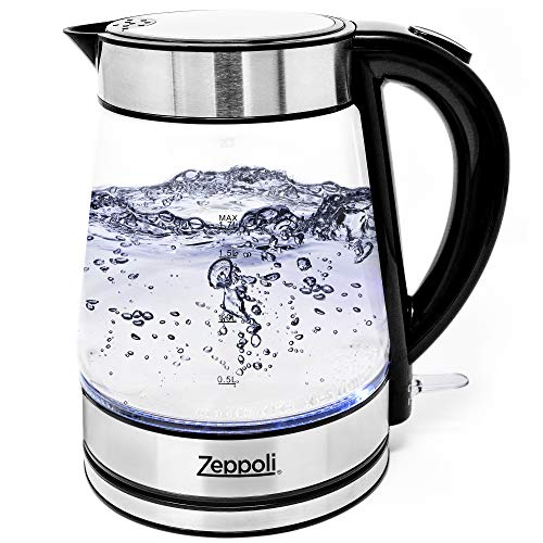 Clear Glass Kettle With Led Lights in US - 8