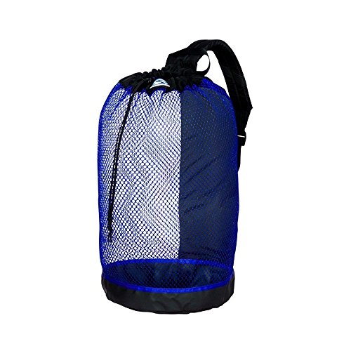 Stahlsac B.V.I. Mesh BackPack Perfect for Snorkeling Gear All Colors Snorkel Scuba Dive Diving Diver Beach Gear Boat Boating Sail Boat Sailing Travel Tote, BLUE