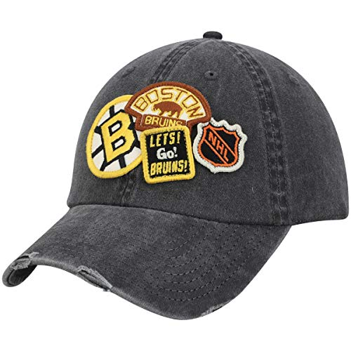 American Needle Boston Bruins Iconic Distressed Adjustable Strapback Hat ()