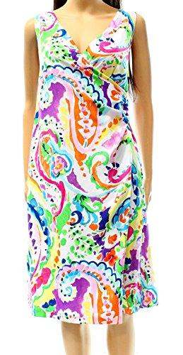 Cheap Lauren Ralph Lauren Womens Faux-Wrap Paisley Print Casual Dress Multi 14 free shipping Gqy9DeFn