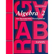 Algebra 2: Solutions Manual
