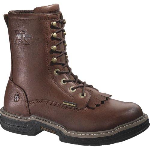 Kiltie Lacer Boot - Wolverine Men's Buccaneer Waterproof Steel-Toe EH Kiltie Lacer Work Boot (7 M in Dark Brown)