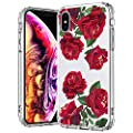 Mosnovo Case For Iphone Xs Iphone X Red Roses Floral Flower Pattern Clear Design Printed Plastic Back Case With Tpu Bumper Protective Case Cover For Apple Iphone X Iphone Xs