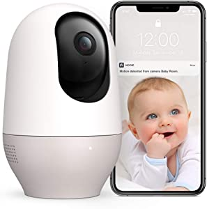 Baby Monitor Pet Camera Nooie 1080P HD Wireless WiFi Indoor Home Security Camera with Motion Tracking&Free Sound Alerts Two Way Audio Night Vision Works with Alexa with SD Card Slot and Cloud