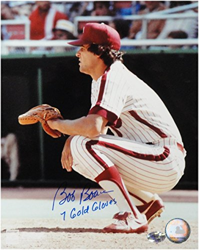 Phillies Legend - Bob Boone Signed 8X10 Photo Autograph Phillies Catching no Gear w/COA