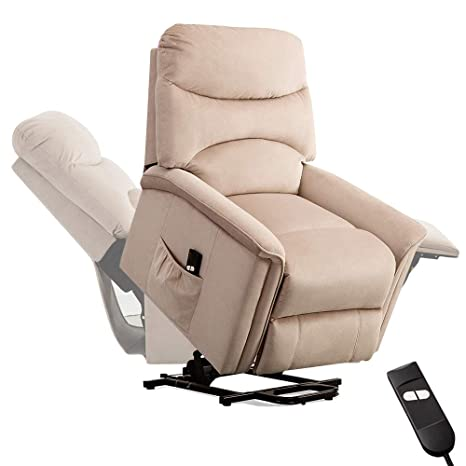 Fabulous Bonzy Home Power Lift Recliner Chair Electric Lounge Sofa Recliner For Elderly 90 To 1500 Adjustable Padded Seat With Headrest Backrest Footrest Creativecarmelina Interior Chair Design Creativecarmelinacom