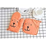 Oven Gloves Non-Slip 25 * 15cm 1 Pair Grilling Baking Barbecue Insulation Mat Cotton Mimicrowave Kitchen Mitts Heat Resistant Cooking Non-Slip