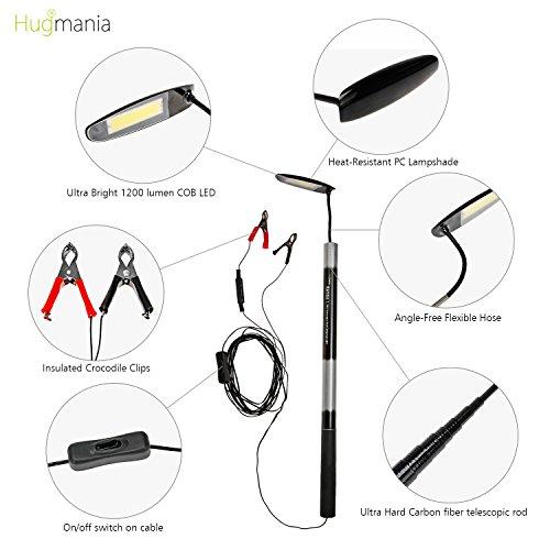 telescopic rod camping lantern  hugmania pro ultra bright