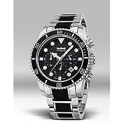 Perigaum P1302SBRC Men's Pro Diver Chronograph Bracelet Watch