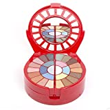 Cameo Deluxe Carry All Travel Makeup Palette - Included 26 Eyeshadows 6 Blushes 2 Press Powder 6 Lipsticks 1 Mascara 1 Eye Pencil 2 Applicators 1 Lip Brush 1 Brush - And Mirror Included